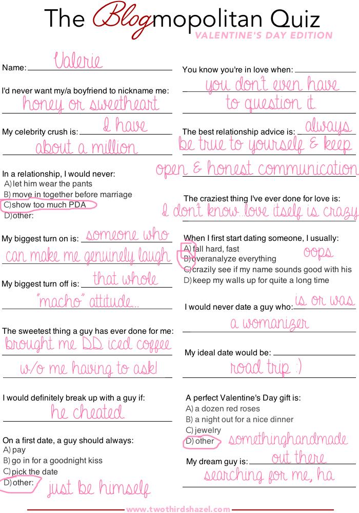 Quiz Dating Site