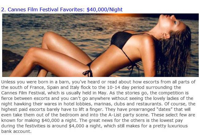 Top 10 Most Expensive Female Escort In The World