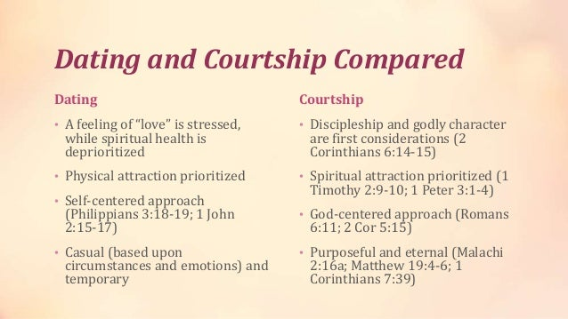 Dating With Courtship