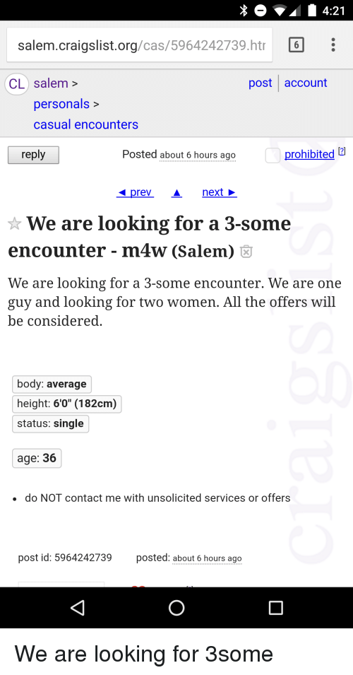 Ons Dating Looking For Casual Encounters