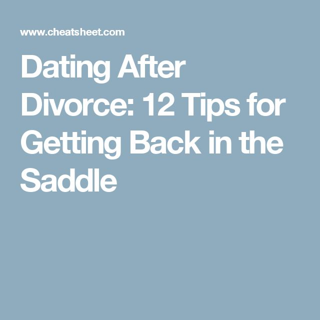 A Dating Divorce Tips After