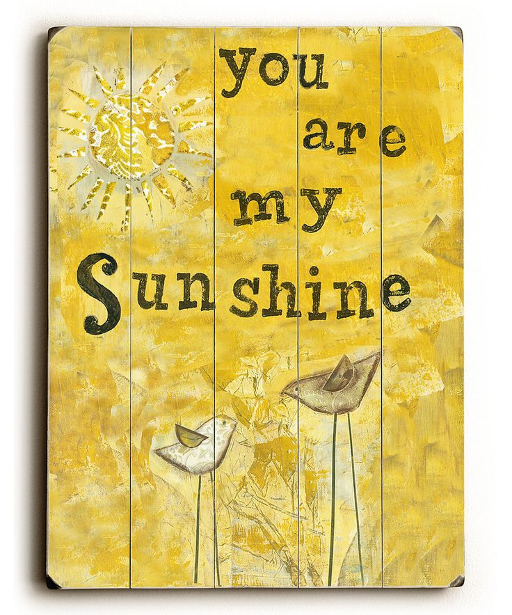 For Sunshine Looking My
